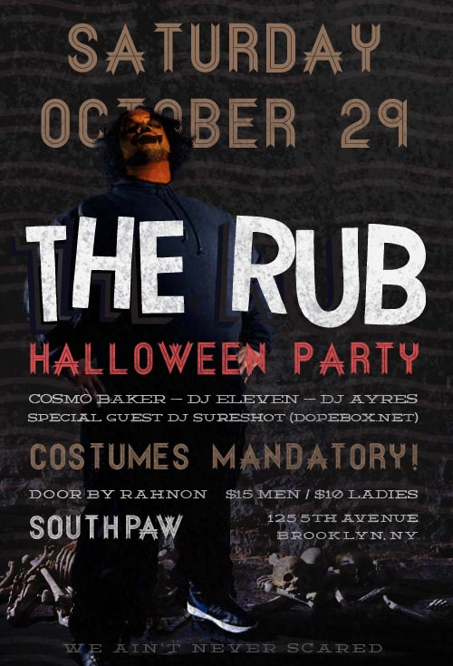 rub halloween edit Party: The Rub Halloween Party