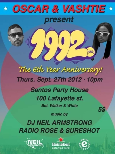 1992 6 Year Anniversary Party