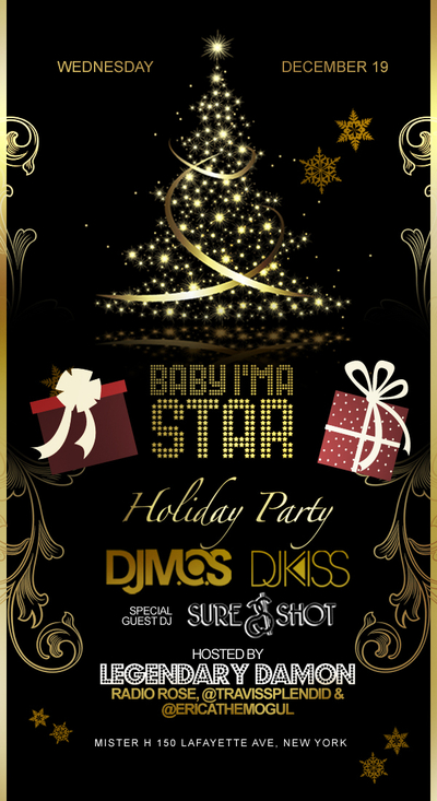 mos holiday party Baby Im a Star Holiday Party